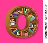 creative books print on... | Shutterstock .eps vector #594455819