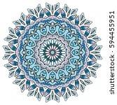 mandala flower decoration ... | Shutterstock .eps vector #594455951