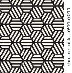 vector seamless pattern. modern ... | Shutterstock .eps vector #594459011