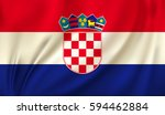 flag of croatia waving in the... | Shutterstock .eps vector #594462884