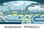 business people sitting and... | Shutterstock .eps vector #594466211