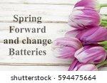 spring forward message  a... | Shutterstock . vector #594475664