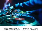 moscow 1 october 2016 party dj... | Shutterstock . vector #594476234