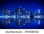 new york at night with... | Shutterstock . vector #59448442
