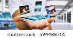 businessman on blurred...   Shutterstock . vector #594488705
