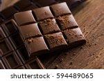 Milk And Dark Chocolate On A...