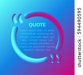 3d quote text bubble. creative... | Shutterstock .eps vector #594490595