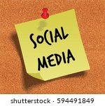 social media handwritten on... | Shutterstock . vector #594491849