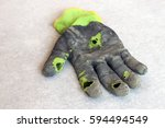 used old dirty torn worker's...   Shutterstock . vector #594494549