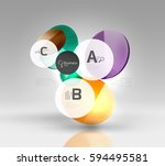 vector circle infographics.... | Shutterstock .eps vector #594495581