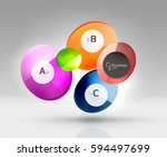 circle banner design on gray | Shutterstock .eps vector #594497699