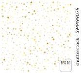 gold stars. confetti... | Shutterstock .eps vector #594499079
