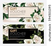 premium gift certificate for a ... | Shutterstock .eps vector #594501095