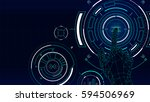 futuristic vector background ...