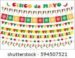 cinco de mayo celebration set... | Shutterstock .eps vector #594507521