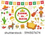 cinco de mayo celebration in... | Shutterstock .eps vector #594507674