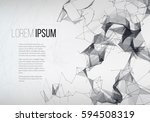 abstract sphere with dots and... | Shutterstock .eps vector #594508319