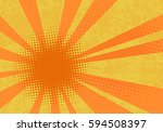 retro explosion background. pop ... | Shutterstock .eps vector #594508397