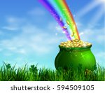 st. patrick s day symbol green... | Shutterstock .eps vector #594509105