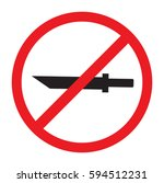 no knife weapon vector icon | Shutterstock .eps vector #594512231