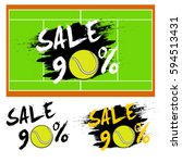 set banners sale 90 percent... | Shutterstock .eps vector #594513431