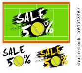 set banners sale 50 percent... | Shutterstock .eps vector #594513467