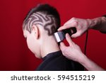 Cutting Hair Machine Hairstyle...