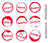 positive character traits... | Shutterstock .eps vector #594520019