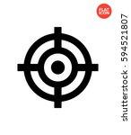 aim mark icon flat isolated... | Shutterstock . vector #594521807