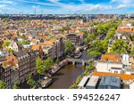panoramic aerial view of... | Shutterstock . vector #594526247
