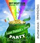 vector st. patrick s day poster ...   Shutterstock .eps vector #594542561