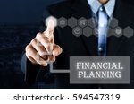 business man pointing hand on... | Shutterstock . vector #594547319
