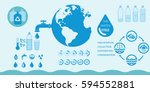 water and watering infographic... | Shutterstock . vector #594552881