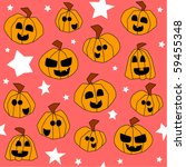 halloween seamless pattern ... | Shutterstock . vector #59455348