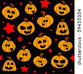 halloween seamless pattern ... | Shutterstock . vector #59455354