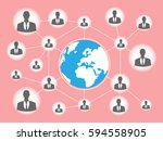 business dealing connecting to... | Shutterstock .eps vector #594558905
