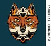 vector hand drawn  illustration ...   Shutterstock .eps vector #594558929