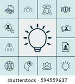 set of 12 business management... | Shutterstock .eps vector #594559637
