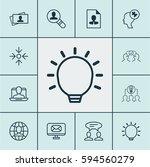 set of 12 business management... | Shutterstock .eps vector #594560279