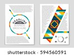 abstract vector layout... | Shutterstock .eps vector #594560591