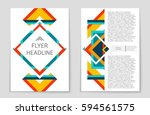 abstract vector layout... | Shutterstock .eps vector #594561575
