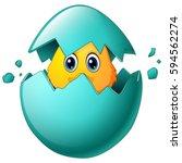 vector illustration of cute... | Shutterstock .eps vector #594562274