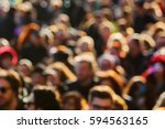 top view picture of a crowd of... | Shutterstock . vector #594563165