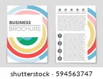 abstract vector layout... | Shutterstock .eps vector #594563747