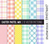 Easter Colors Polka Dots ...
