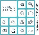 set of 12 business management... | Shutterstock . vector #594585347