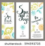 vector vertical ready design... | Shutterstock .eps vector #594593735