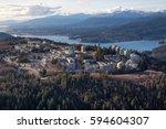 aerial view of simon fraser... | Shutterstock . vector #594604307