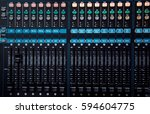 studio sound mixer  technology... | Shutterstock . vector #594604775