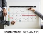 personal organizer management... | Shutterstock . vector #594607544